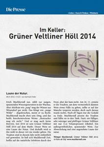 Im Keller: Grüner Veltliner Höll 2014, von Gerhard Hofer